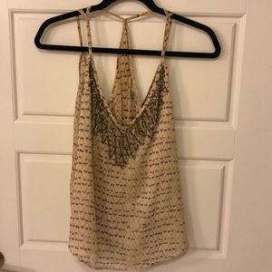 Urban Outfitters Sequined and Patterned Tank Top